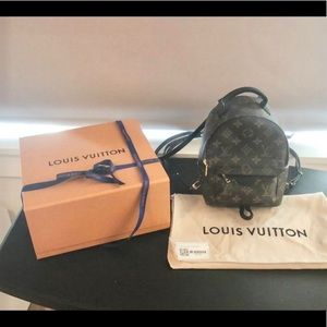 Like new Louis Vuitton Palm Springs Mini Backpack